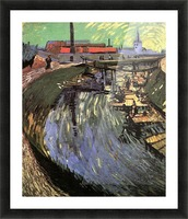 Canal with Women Washing by Van Gogh Picture Frame print