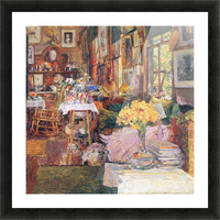 The room of flowers by Hassam Picture Frame print