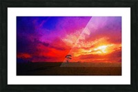 Last Sunset Picture Frame print
