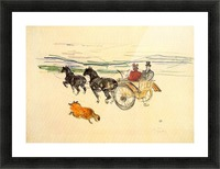 Carriage by Toulouse-Lautrec Picture Frame print