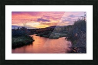 Early morning on the Margaree river  Picture Frame print