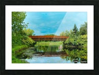 The Lonley Bridge Picture Frame print