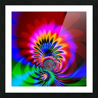 Psychedelic_Flower_series_3 Picture Frame print