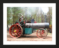 Logging Steam Tractor Picture Frame print