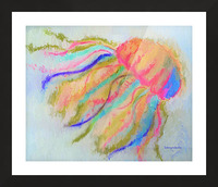 Jellyfish in watercolor Picture Frame print
