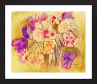 Floral pansies Picture Frame print