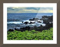Hana Beach Hawaii Picture Frame print
