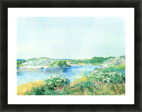 The small pond by Hassam Picture Frame print