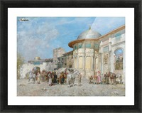 Horse market, Syria Picture Frame print