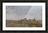 Caravan in the desert Picture Frame print