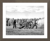 U. S. Civil War Re-enactment Picture Frame print