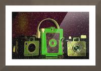 Antique Camera Picture Frame print