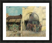 Oriental market Picture Frame print