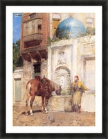 At the Well Picture Frame print
