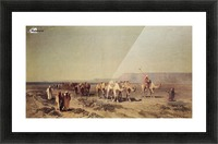 Caravan on the shores of the Red sea Picture Frame print