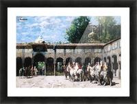 Cavalieri Circassi Che Aspettano Il Loro Capo Picture Frame print