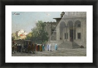 Entering mosque Picture Frame print