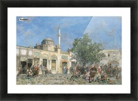 The market of Constantinople Picture Frame print