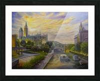 Rideau Canal in Ottawa Picture Frame print