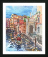 Venice Canal And Gondolier Italian City Landscape  Picture Frame print