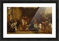 The Entrance of George IV at the Palace of Holyroodhouse Picture Frame print