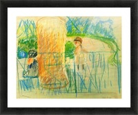 Chair in the garden -2- by Morisot Picture Frame print