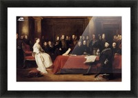 The First Council of Queen Victoria Picture Frame print