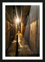 Alley light Picture Frame print