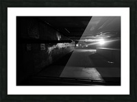 Dark alley Picture Frame print