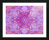 Pink Blue Daisy Picture Frame print