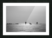 Clifton Beach in Karachi on sunset Picture Frame print