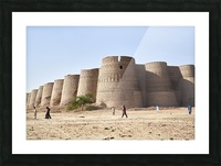 The majestic Derawar Fort in Pakistan Picture Frame print