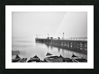 Foggy sea bridge Picture Frame print