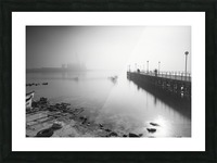 Foggy evening at the port of Balchik Picture Frame print