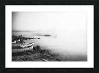 Foggy fishing port Picture Frame print