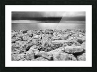 Stormy weather at the beach Picture Frame print