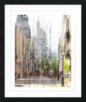 Rue st-Paul Montreal Picture Frame print