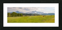 Wilson Peak with Horses Picture Frame print