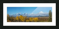 Tetons In the Fog Picture Frame print