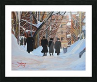 Shabbat Outremont Lane Picture Frame print