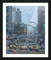 Guy Street Montreal Picture Frame print