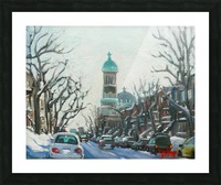 Mile End Montreal Picture Frame print