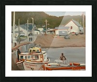 Gaspe Pier Picture Frame print