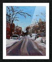 Montreal Winter Scene Picture Frame print