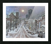 Full Moon Over Montreal Picture Frame print