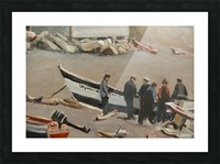 Fixing the Boat Gaspe Picture Frame print