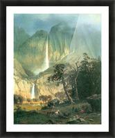 Cho-Looke,  Yosemite Watterfall by Bierstadt Picture Frame print