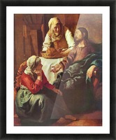 Christ with Mary and Martha by Vermeer Picture Frame print