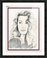 Lady from a Magazine in Pastels w- pink mat Picture Frame print