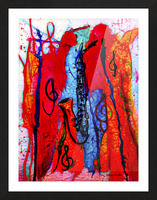 Saxophone Electrified Picture Frame print